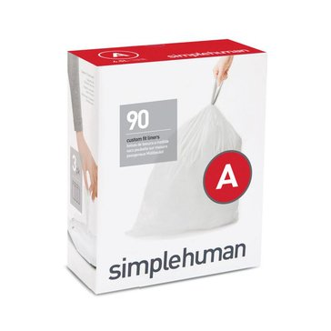 simplehuman Custom Fit A Liners, 90-Pack