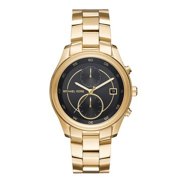 Michael Kors Women's Briar Watch, Black/ Gold 40mm