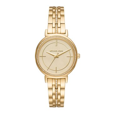Michael Kors Women's Cynthia Watch, Gold 33mm