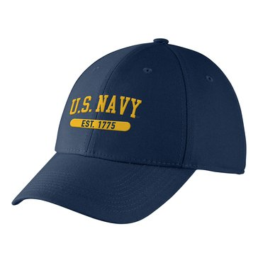 Nike U.S. Navy Est 1775  Men's Swoosh Flex Navy Hat
