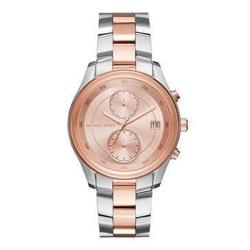Michael Kors Women's Briar Watch, Silver/ Gold 40mm