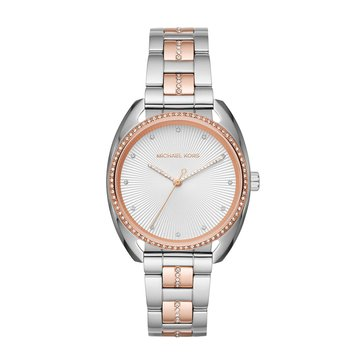 Michael Kors Women's Libby Rose Gold/Silver Two-Tone Watch, 38mm