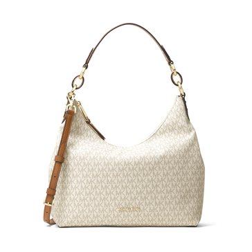 Michael Kors Isabella Medium Convertible Shoulder Signature Vanilla