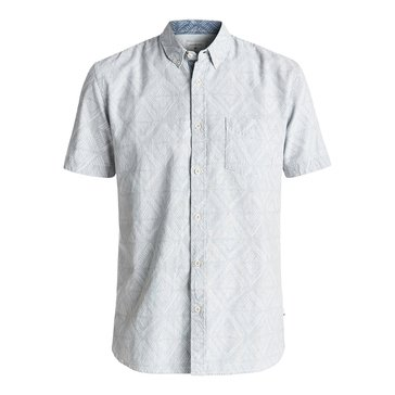Quiksilver Men's Spectrum Tracks Short Sleeve Woven Shirt