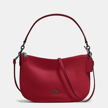 Coach Pebble Chelsea Crossbody Cherry