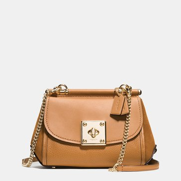 Coach Mixed Leather Drifter Crossbody Saddle