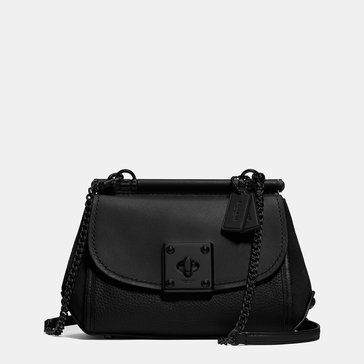 Coach Mixed Leather Drifter Crossbody Black