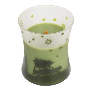 Woodwick Car Evergreen Scenic Hourglass Candle
