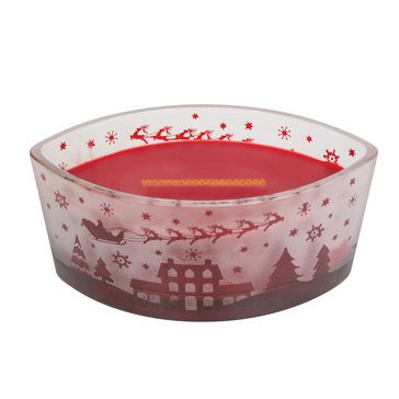 Woodwick Santa Village Red Scenic Ellipse Candle