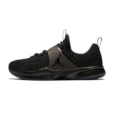 Jordan Trainer 2 Flyknit Men's Basketball Shoe - Black / Chrome Metallic / Silver