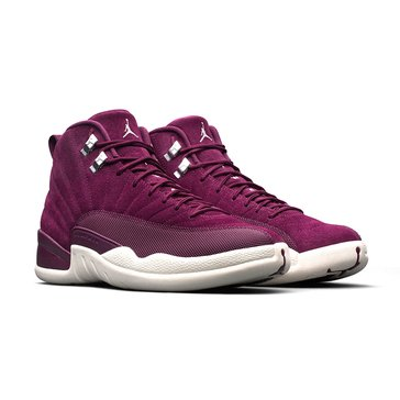 Jordan Air Jordan Retro 12 Men's Basketball Shoe - Bordeaux / Sail / Silver