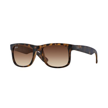 Ray-Ban Men's Justin Classic Sunglasses RB4165, Light Havana/ Brown Gradient 55mm