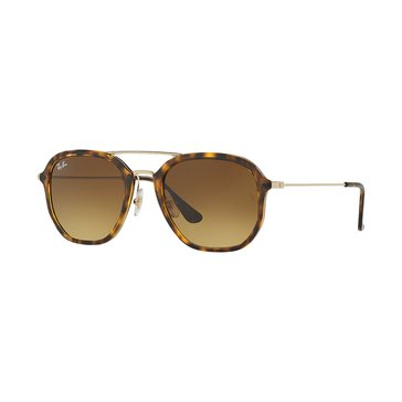 Ray-Ban Unisex Sunglasses RB4273, Tortoise, Gold/ Brown Gradient 52mm