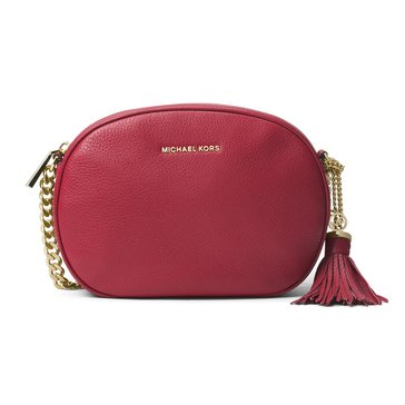 Michael Kors Ginny Medium Messenger Burnt Red