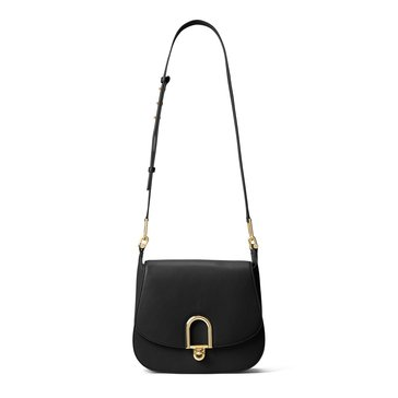 Michael Kors Delfina Large Saddle Bag Black