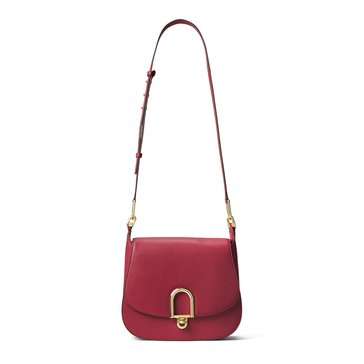 Michael Kors Delfina Large Saddle Bag Burnt Red