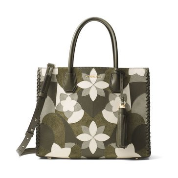 Michael Kors Mercer Large Convertible Tote Olive