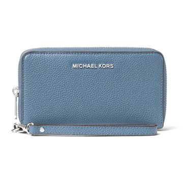 Michael Kors Mercer Large Flat Multifunction Phone Case Denim