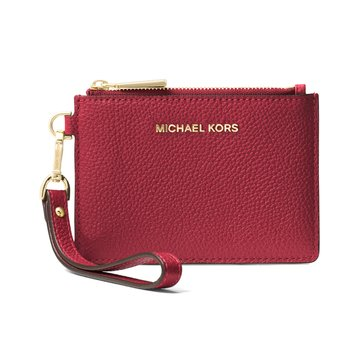 Michael Kors Mercer Small Coin Purse Burnt Red