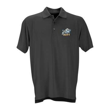 Vantage Men's Rams Naval Academy Vansport Omega Short Sleeve Solid Polo