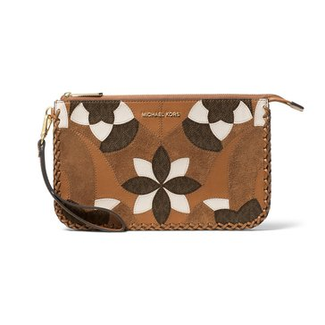 Michael Kors Daniela Large Wristlet Acorn Brown