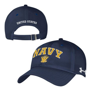 Under Armour Men's Naval Academy Goat Renegade Adjustable Cap