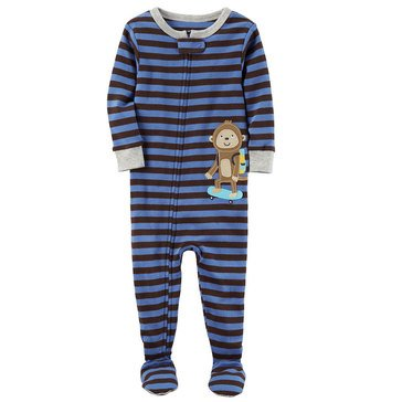 Carter's Baby Boys' Cotton Pajamas, Skateboard Monkey