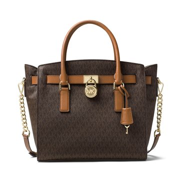 Michael Kors Hamilton Large East West Satchel Signature Brown