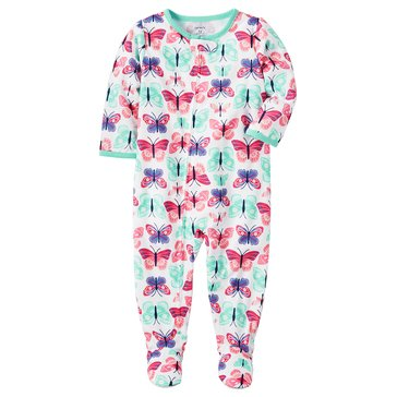 Carter's Baby Girls' Poly Pajamas, Butterfly