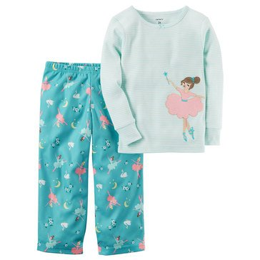 Carter's Baby Girls' 2-Piece Fleece Pajamas Set, Princess