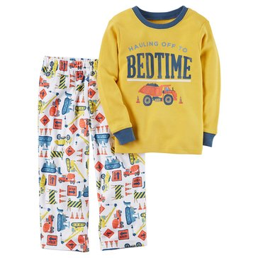 Carter's Baby Boys' 2-Piece Fleece Pajamas Set, Construction