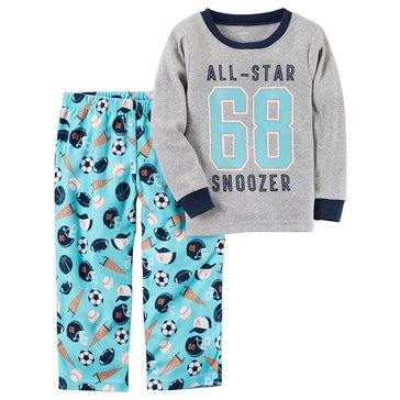 Carter's Baby Boys' 2-Piece Fleece Pajamas Set, All Star Snoozer
