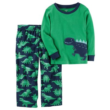 Carter's Baby Boys' 2-Piece Fleece Pajamas Set, Dino