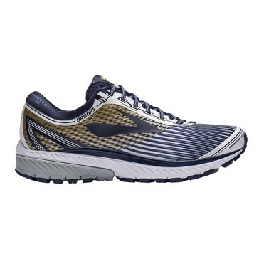 Brooks Ghost 10 LE Men's Running Shoe - White / Navy / Gold