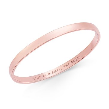 Kate Spade 'Stop And Smell The Roses' Idiom Bangle, Rose Gold