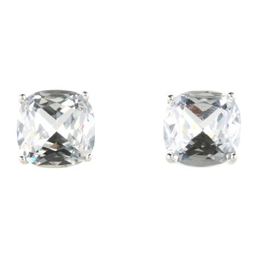 Kate Spade Small Square Stud Earrings, Silver