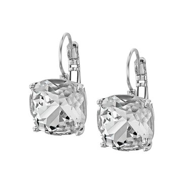 Kate Spade Small Square Leverback Earrings, Silver