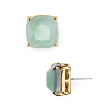 Kate Spade Amazonite Small Square Stud Earrings, Gold
