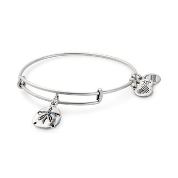 Alex and Ani Sand Dollar Expandable Bangle, Silver Finish