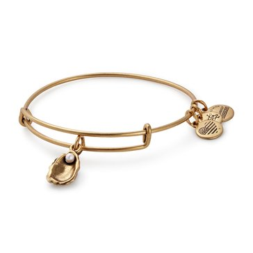 Alex and Ani Oyster Expandable Bangle, Gold Finish