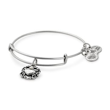 Alex and Ani Crab Expandable Bangle, Silver Finish