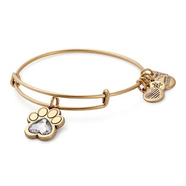 Alex and Ani Charity By Design Prints Of Love Expandable Bangle, Gold Finish