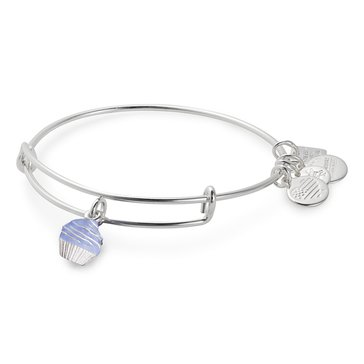 Alex and Ani Charity By Design Cupcake Expandable Bangle, Silver Finish