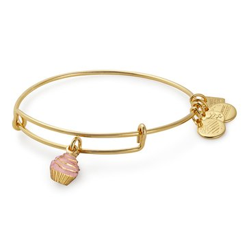 Alex and Ani Charity By Design Cupcake Expandable Bangle, Gold Finish