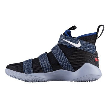 Nike LeBron Soldier XI Men's Basketball Shoe - Glacier Grey / White / Deep Royal