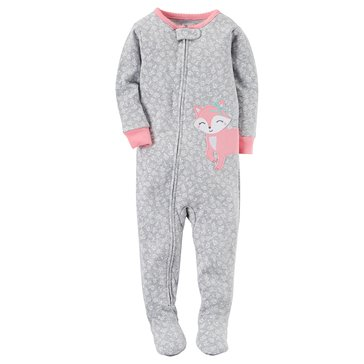 Carter's Toddler Girls' Flower Fox Pajamas