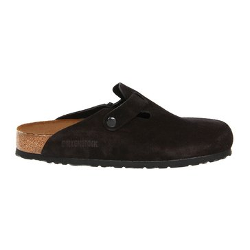 Birkenstock Boston Women's Clog Black Suede