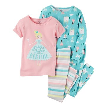 Carter's Toddler Girls' 4-Piece Fairy Castle Pajama Set
