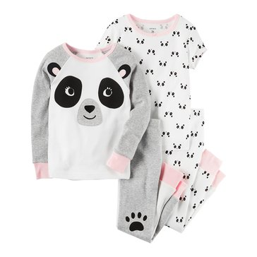 Carter's Toddler Girls' Panda 4-Piece Cotton Pajamas Set