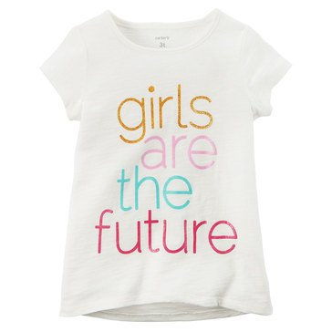 Carter's Toddler Girls' Future Tee, White